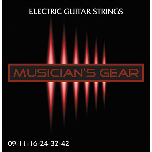 Musician's Gear Electric 9 Nickel Plated Steel Guitar Strings thumbnail
