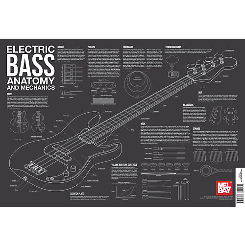 Mel Bay Electric Bass Anatomy and Mechanics Wall Chart thumbnail