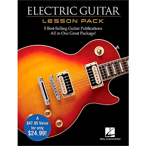 Hal Leonard Electric Guitar Lesson Pack - Boxed Set with Four Books & One DVD thumbnail