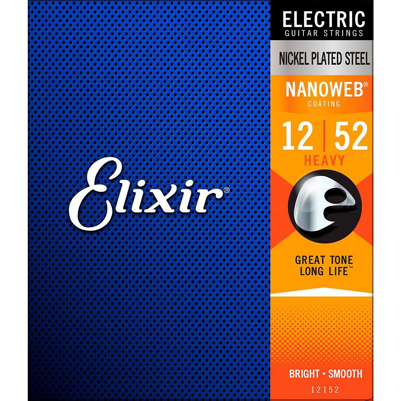 Elixir Electric Guitar Strings with NANOWEB Coating, Heavy (.012-.052) thumbnail