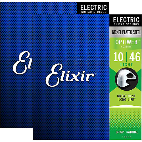 Elixir Electric Guitar Strings with OPTIWEB Coating, Light (.010-.046) - 2 Pack thumbnail