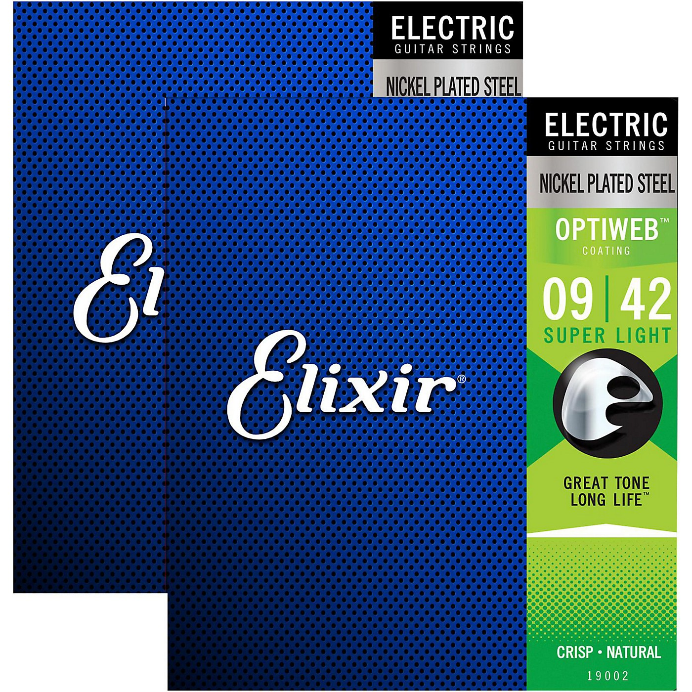 Elixir Electric Guitar Strings with OPTIWEB Coating, Super Light (.009-.042) - 2 Pack thumbnail