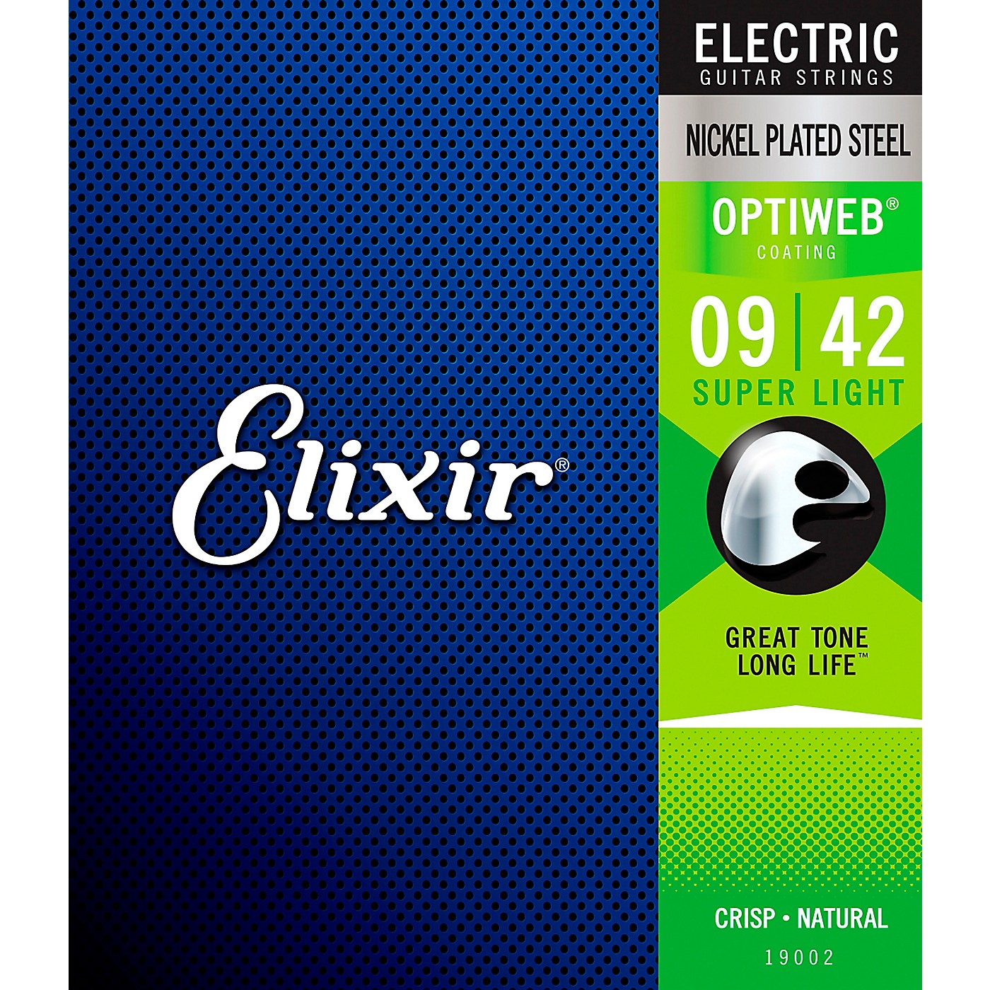 Elixir Electric Guitar Strings with OPTIWEB Coating, Super Light (.009-.042) thumbnail