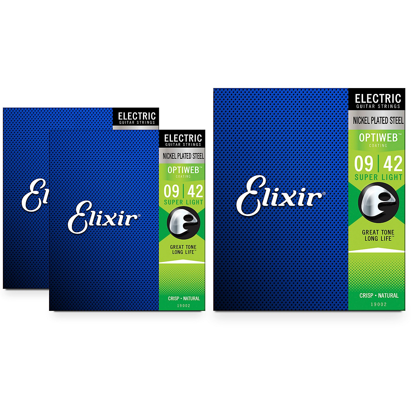 Elixir Electric Guitar Strings with OPTIWEB Coating, Super Light (09-42) 3-Pack thumbnail