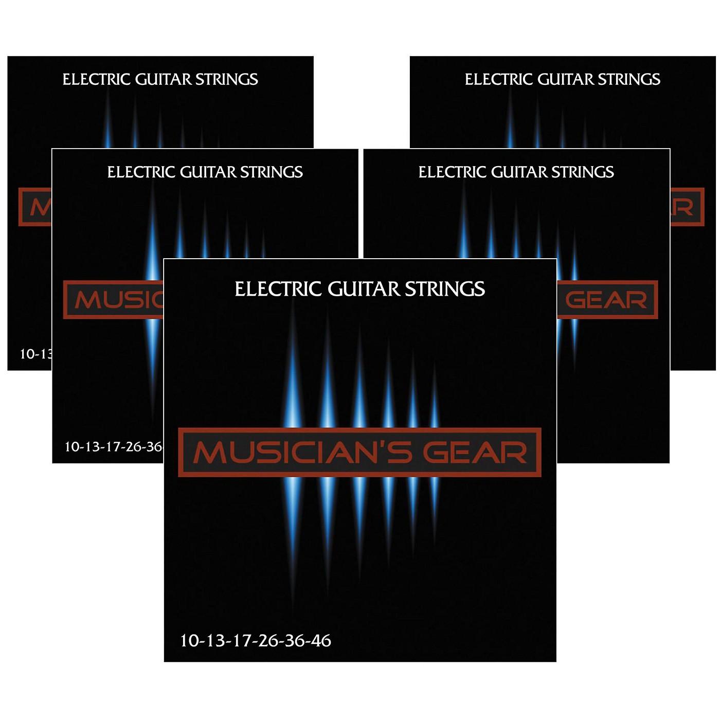 Musician's Gear Electric Nickel Plated Steel Guitar Strings 10-46 - 5-Pack thumbnail