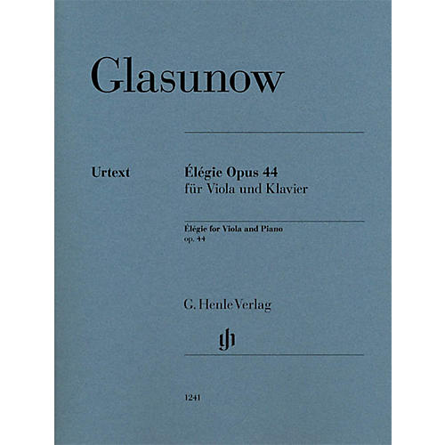 G. Henle Verlag Elegie Op. 44 (Viola and Piano with marked and unmarked string part) Henle Music Folios Series thumbnail
