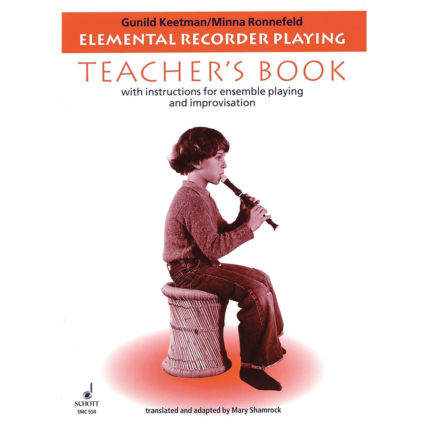 Schott Elemental Recorder Playing (for Recorder and Orff Instruments - Teacher's Book) Schott Series thumbnail