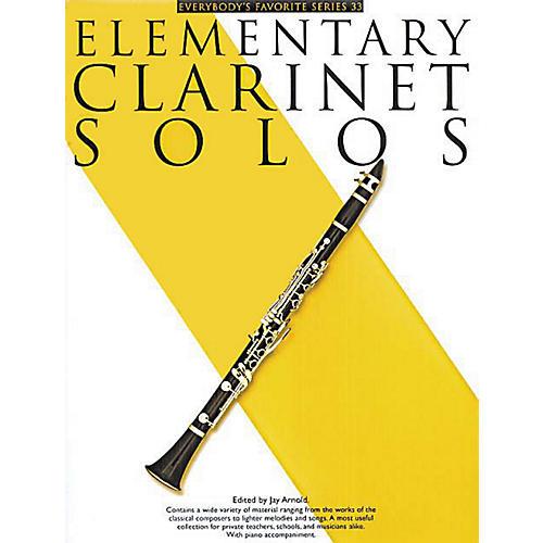 Music Sales Elementary Clarinet Solos (Everybody's Favorite Series, Volume 33) Music Sales America Series thumbnail