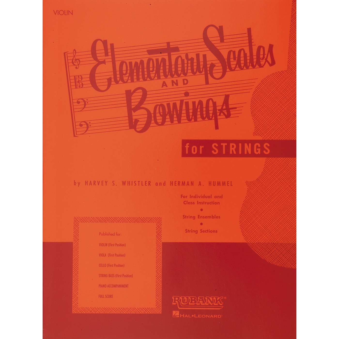 Hal Leonard Elementary Scales And Bowings for Strings for Violin thumbnail