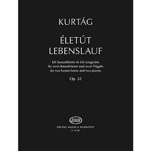 Editio Musica Budapest Eletut Lebenslauf, Op. 32 (for 2 Basset-Horns and 2 Pianos) EMB Series Softcover by Gyorgy Kurtag thumbnail