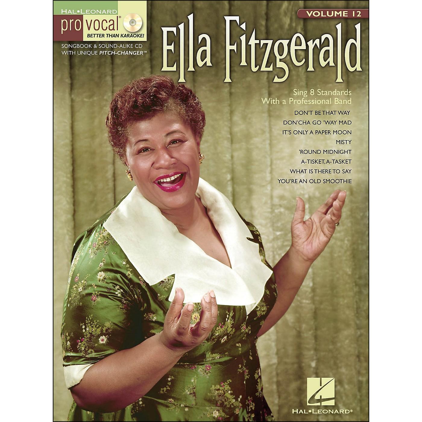 Hal Leonard Ella Fitzgerald Pro Vocal Songbook & CD for Female Singers Volume 12 thumbnail