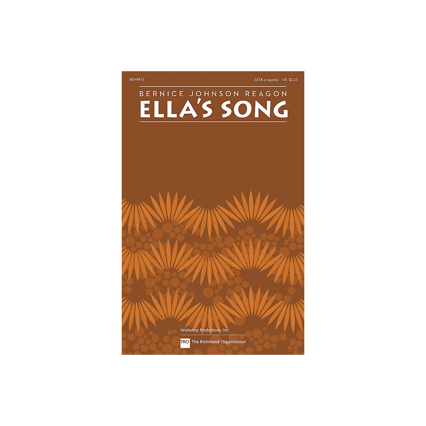Hal Leonard Ella's Song SATB a cappella by Sweet Honey In The Rock composed by Bernice Johnson Reagon thumbnail