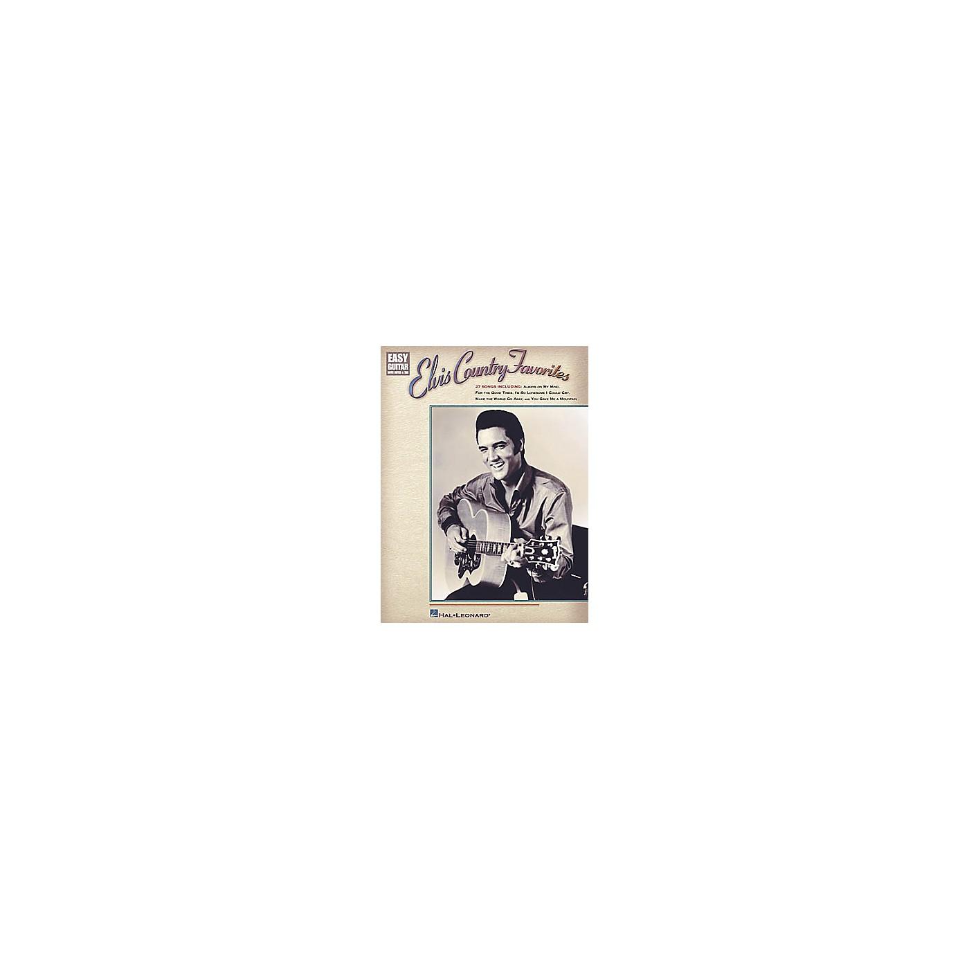 Hal Leonard Elvis Country Favorites Easy Guitar Book thumbnail