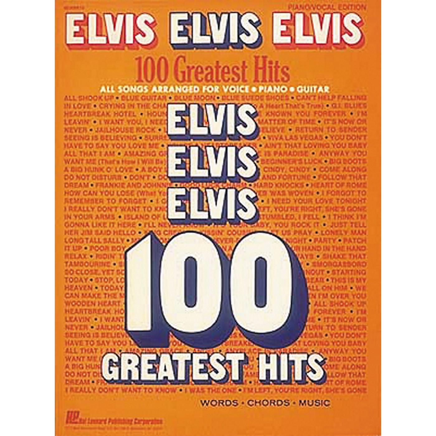 Hal Leonard Elvis Elvis Elvis 100 Greatest Hits Piano, Vocal, Guitar Songbook thumbnail