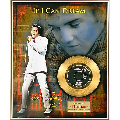 24 Kt. Gold Records Elvis Presley - If I Can Dream Gold 45 Limited Edition of 2500 thumbnail