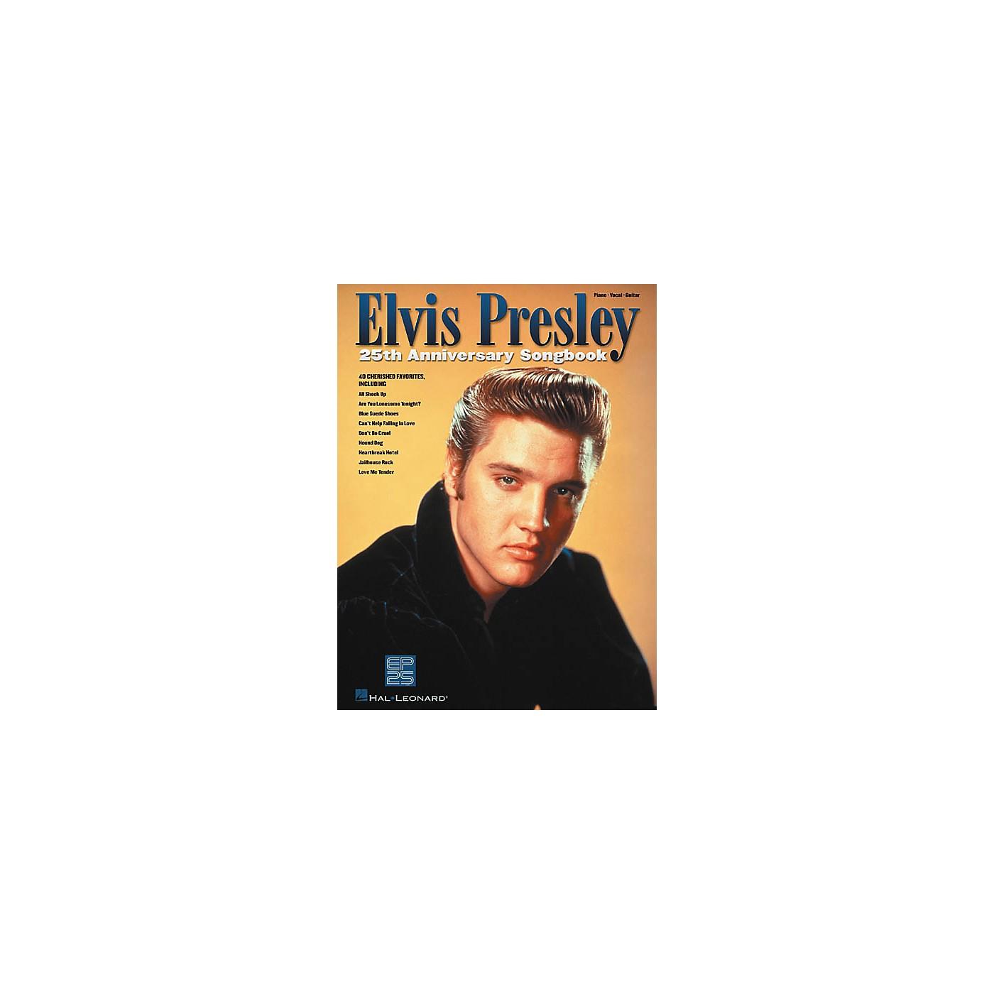 Hal Leonard Elvis Presley 25th Anniversary Piano, Vocal, Guitar Songbook thumbnail