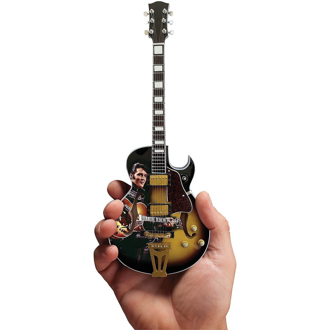 Axe Heaven Elvis Presley Signature '68 Special Hollow Body Model Officially Licensed Miniature Guitar Replica thumbnail