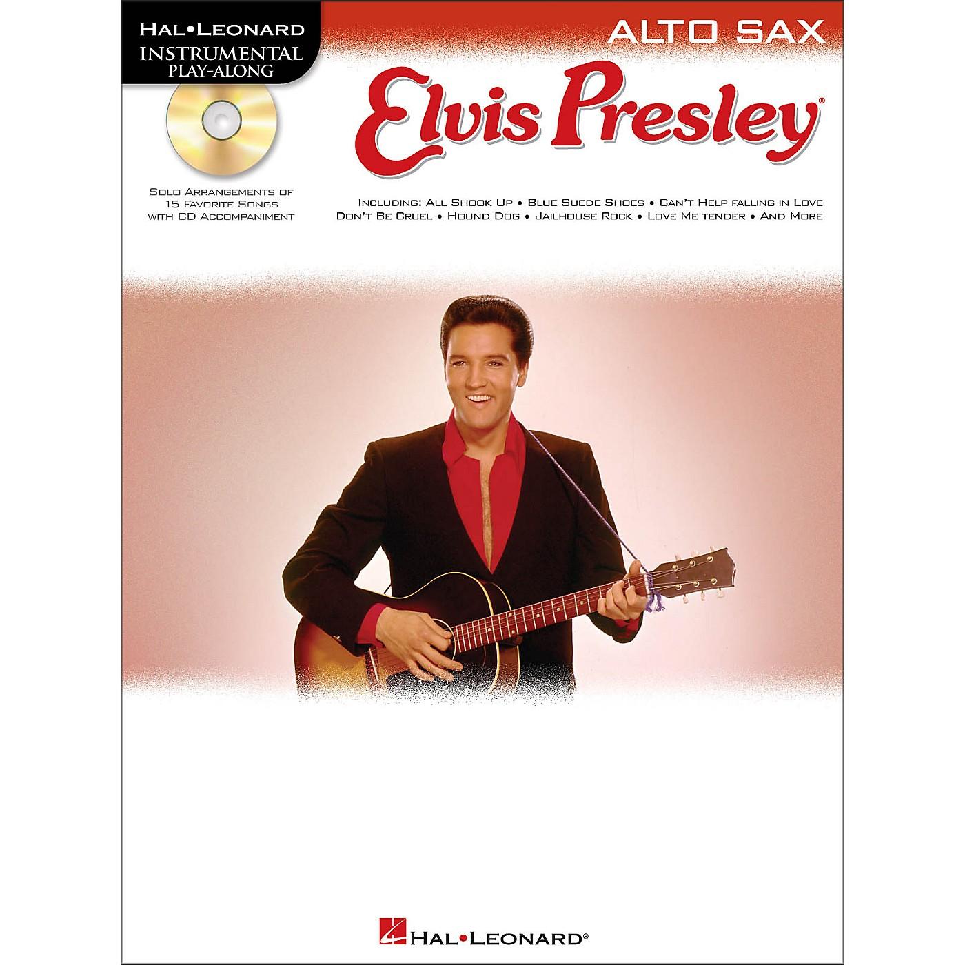 Hal Leonard Elvis Presley for Alto Sax - Instrumental Play-Along Book/CD Pkg thumbnail