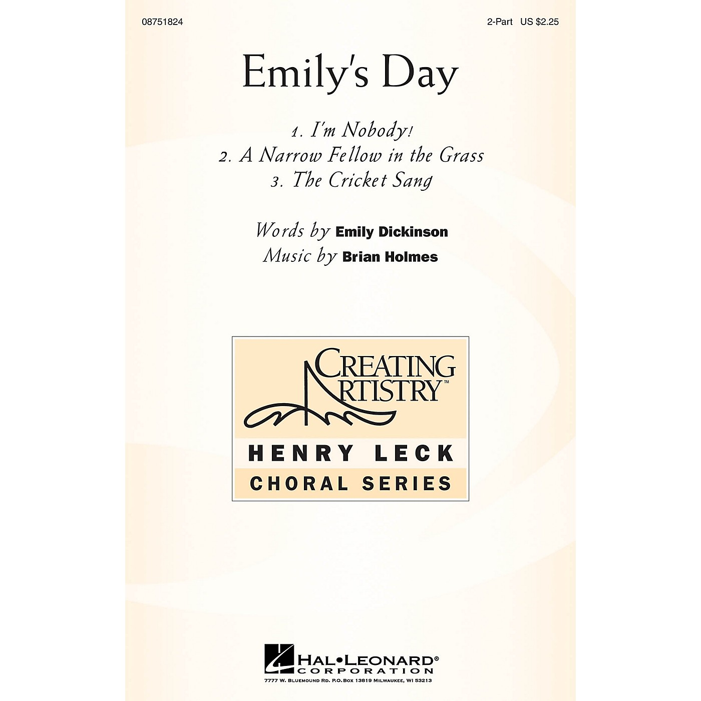Hal Leonard Emily's Day (Choral Collection) 2-Part composed by Brian Holmes thumbnail