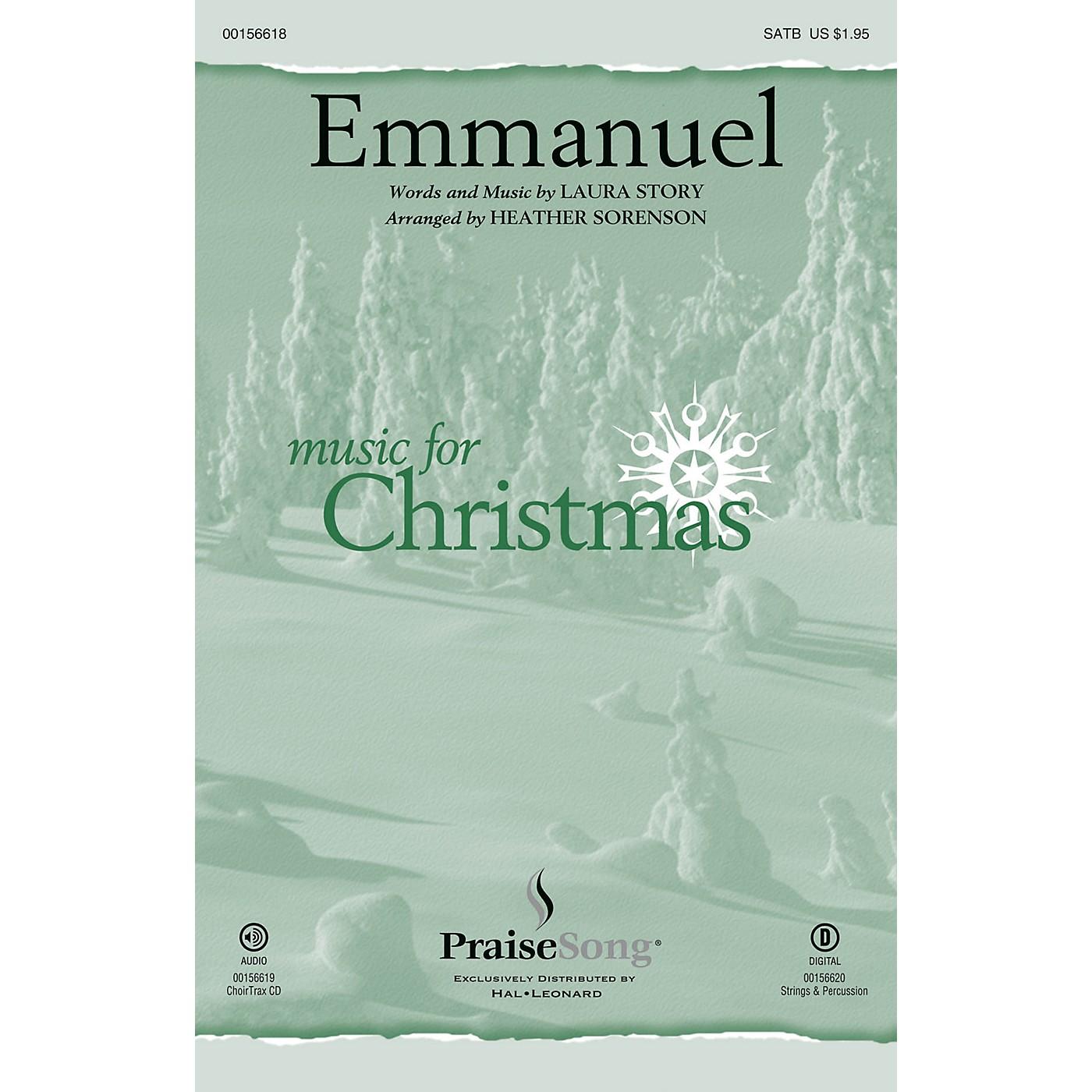 PraiseSong Emmanuel CHOIRTRAX CD by Laura Story Arranged by Heather Sorenson thumbnail