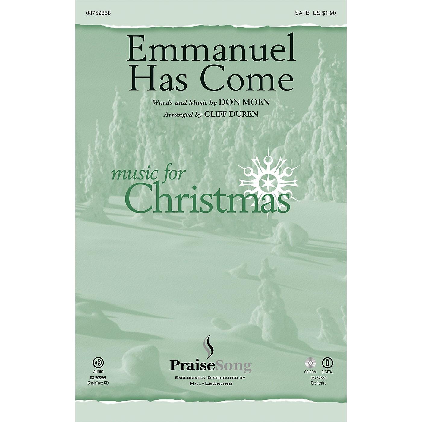 PraiseSong Emmanuel Has Come SATB arranged by Cliff Duren thumbnail