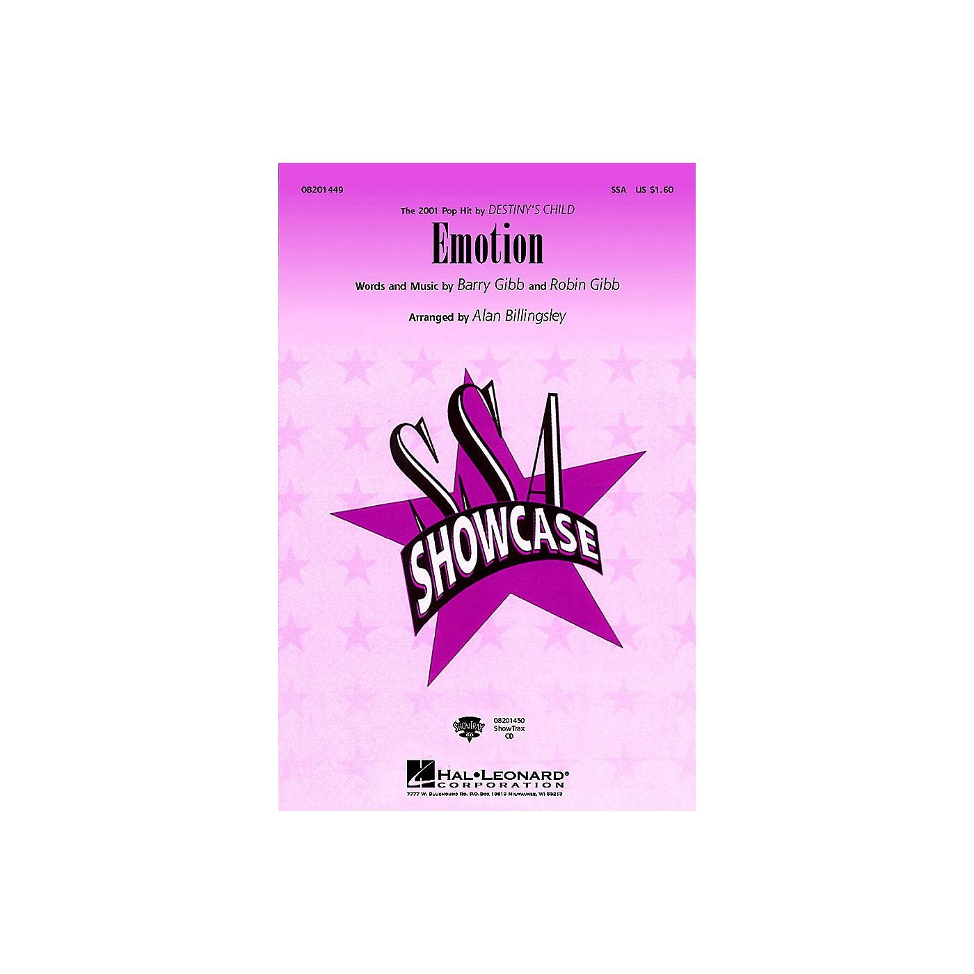 Hal Leonard Emotion SSA by Destiny's Child arranged by Alan Billingsley thumbnail
