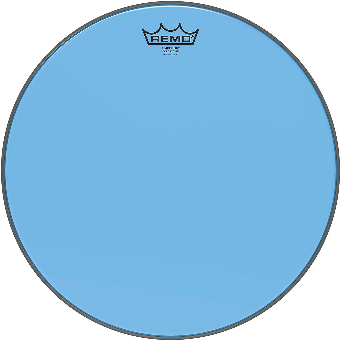 Remo Emperor Colortone Blue Drum Head thumbnail