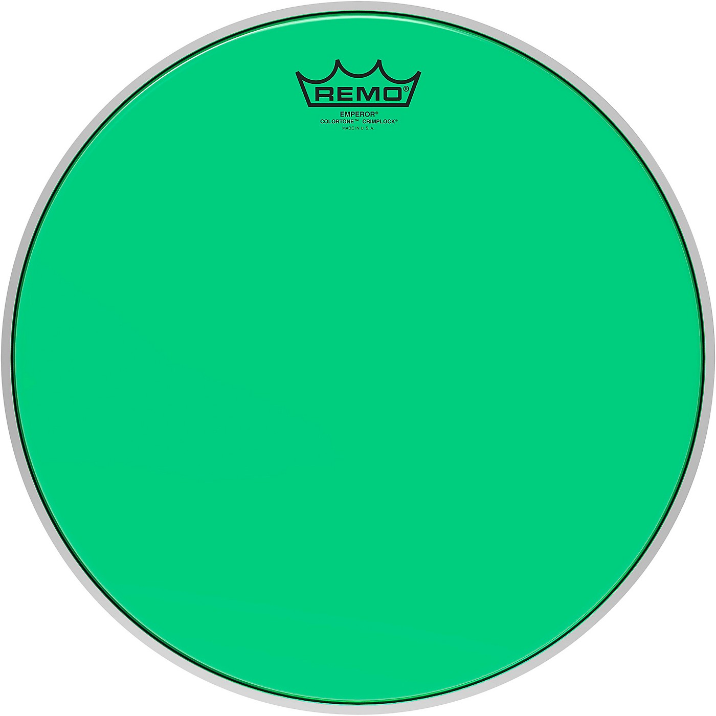 Remo Emperor Colortone Crimplock Green Tenor Drum Head thumbnail