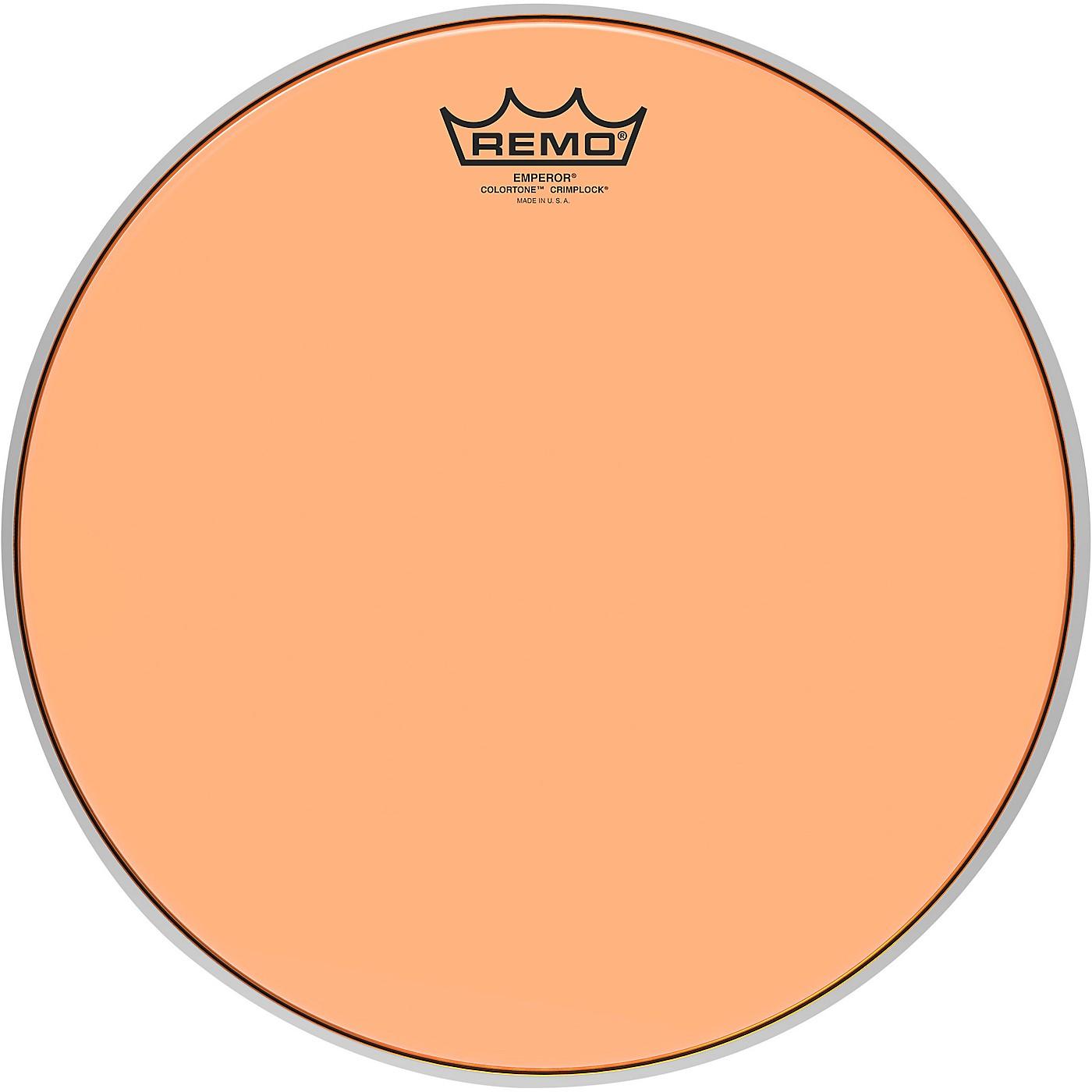 Remo Emperor Colortone Crimplock Orange Tenor Drum Head thumbnail