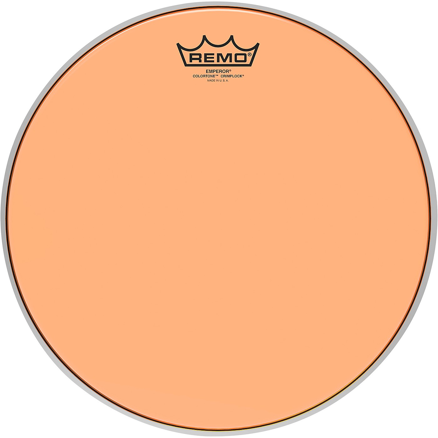 Remo Emperor Colortone Crimplock Orange Tenor Drum Head thumbnail