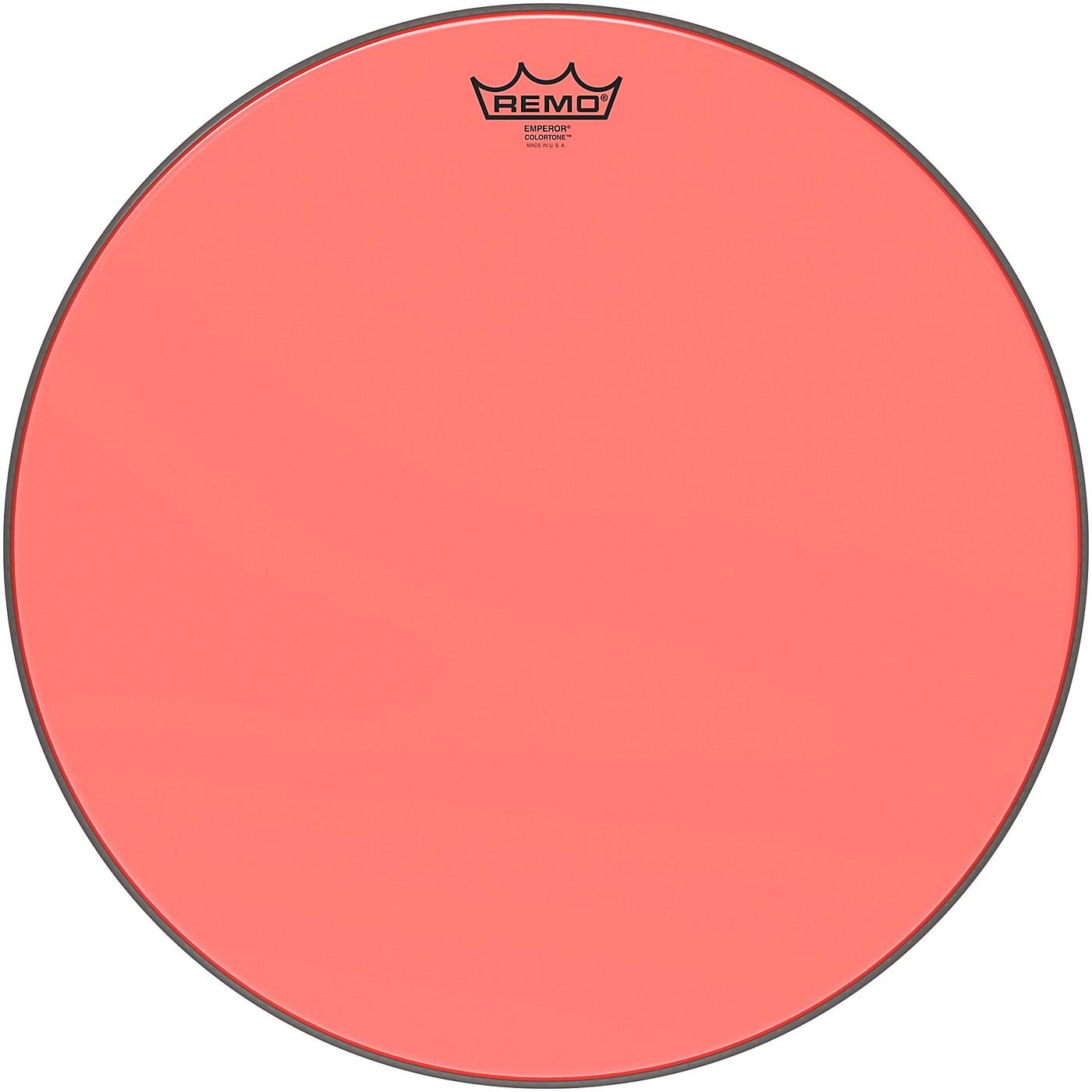Remo Emperor Colortone Red Drum Head thumbnail