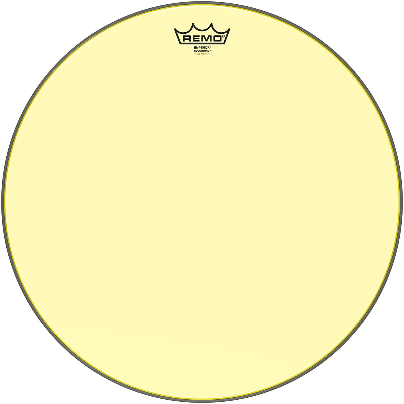 Remo Emperor Colortone Yellow Drum Head thumbnail