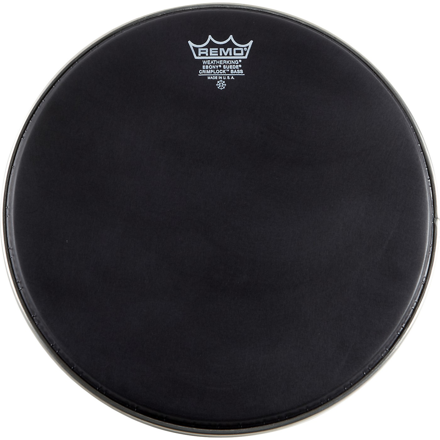 Remo Emperor Ebony Suede Crimplock Marching Bass Drumhead thumbnail