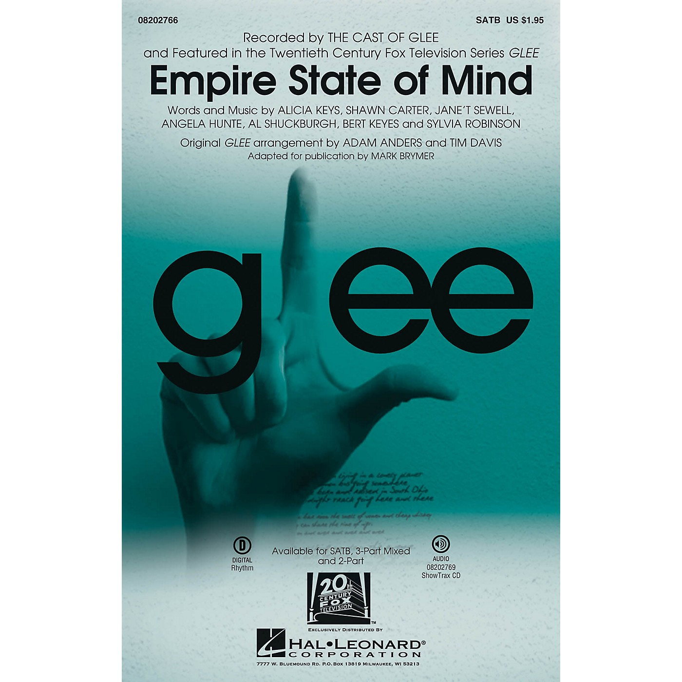Hal Leonard Empire State of Mind (featured in Glee) ShowTrax CD by Alicia Keys Arranged by Adam Anders thumbnail