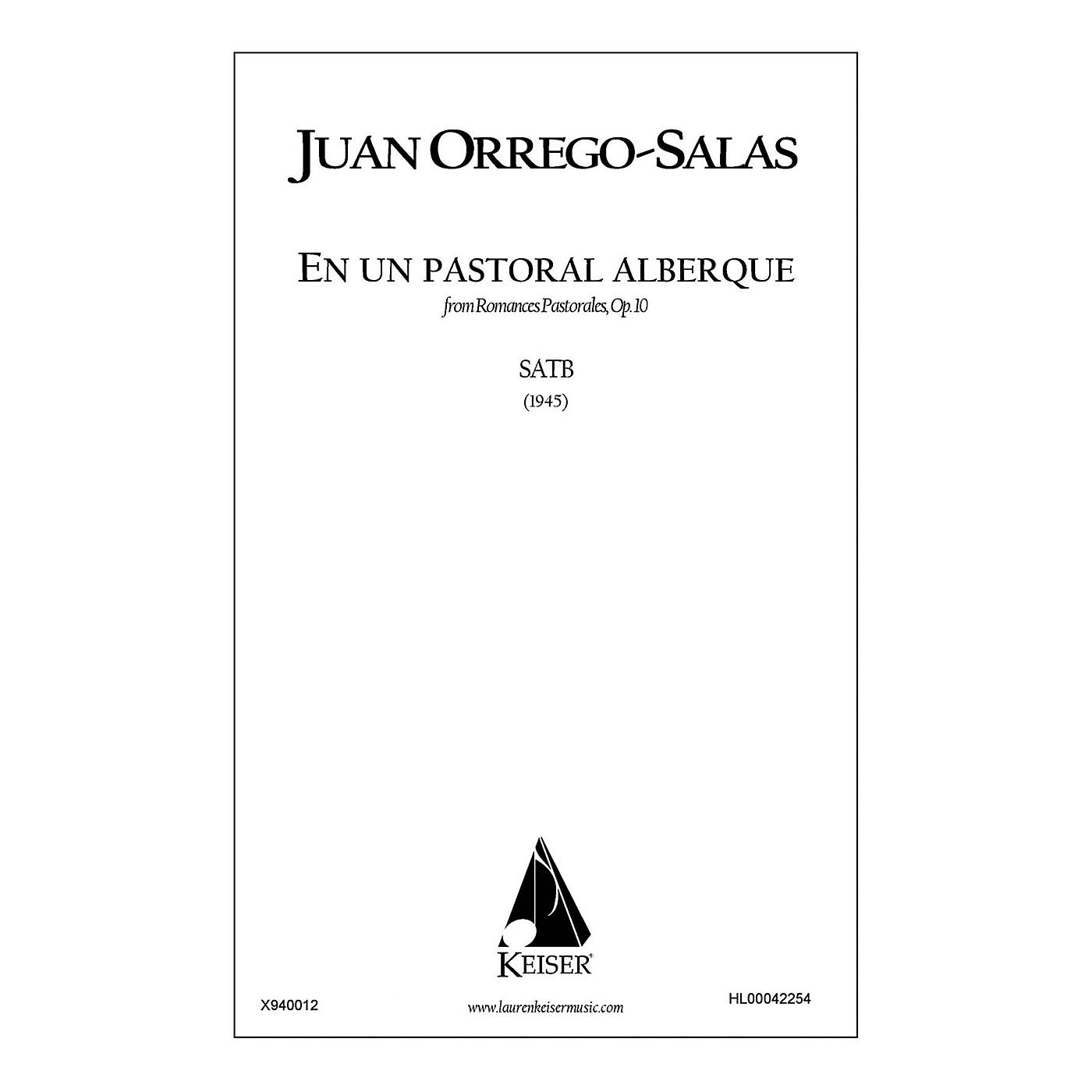 Lauren Keiser Music Publishing En Un Pastoral Albergue (from Romances Pastorales, Op. 10) SATB a cappella Composed by Juan Orrego-Salas thumbnail