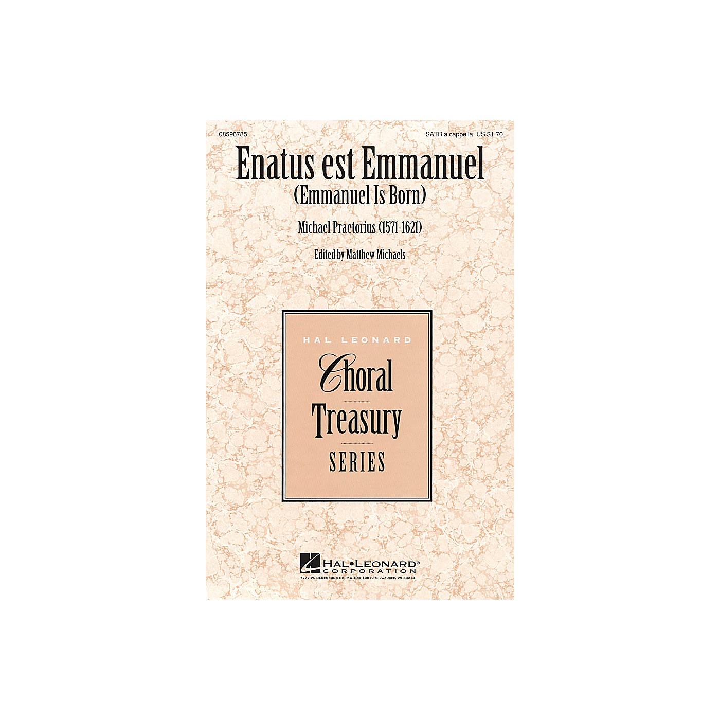 Hal Leonard Enatus est Emmanuel (Emmanuel Is Born) SATB a cappella composed by Michael Praetorius thumbnail