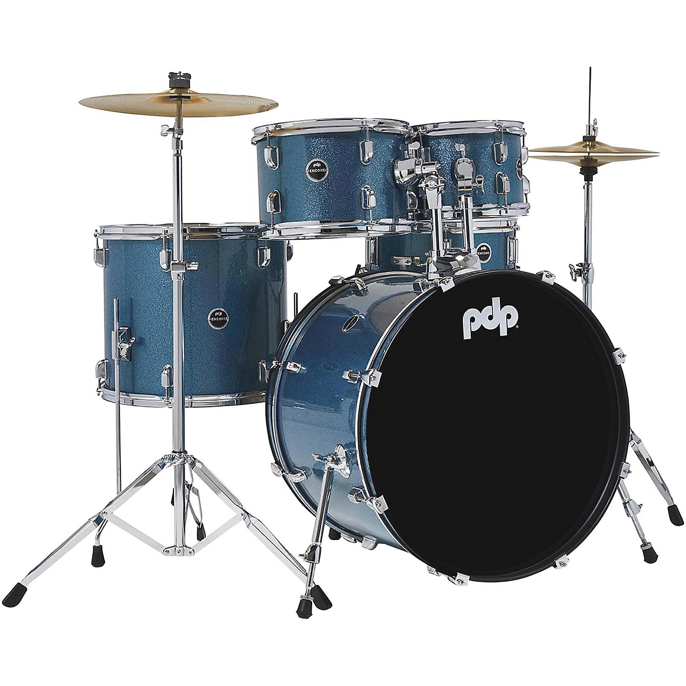 PDP by DW Encore Complete 5-Piece Drum Set With Chrome Hardware and Cymbals thumbnail