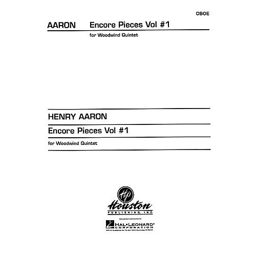 Houston Publishing Encore Pieces for Woodwind Quintet, Vol. 1 (Oboe) Houston Publishing Series Arranged by Henry Aaron thumbnail