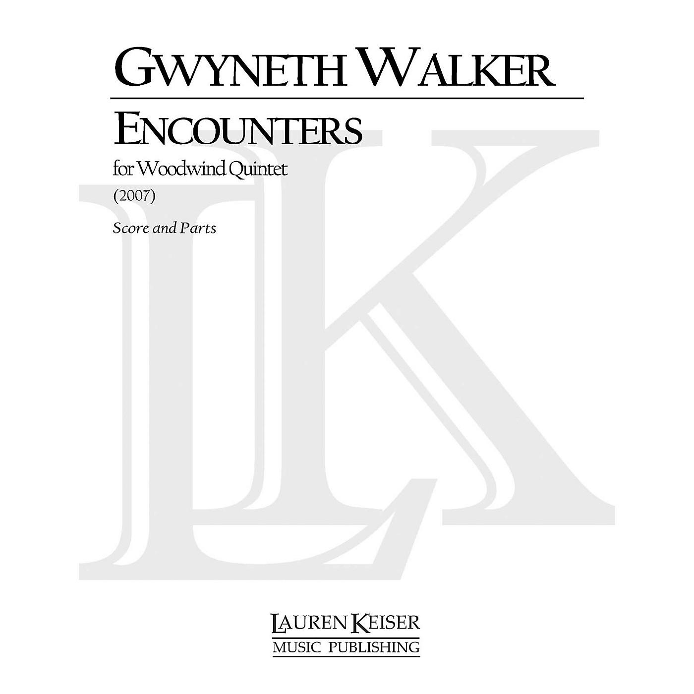 Lauren Keiser Music Publishing Encounters (for Woodwind Quintet) LKM Music Series by Gwyneth Walker thumbnail