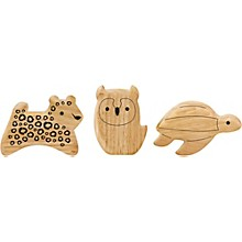 Green Tones Endangered Animal Shaker Set