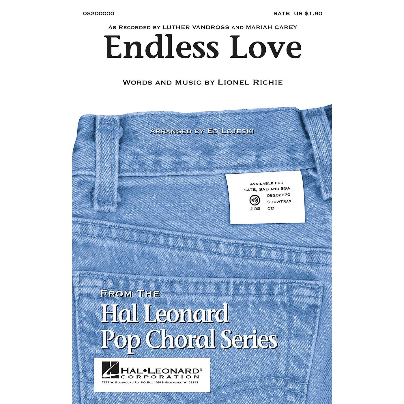 Hal Leonard Endless Love ShowTrax CD Arranged by Ed Lojeski thumbnail