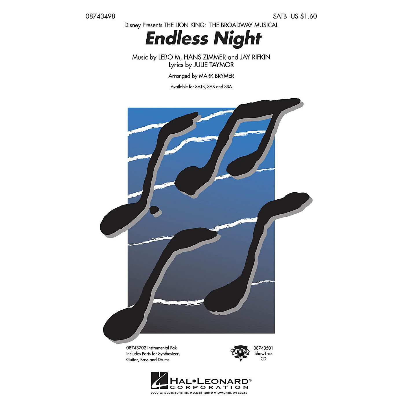 Hal Leonard Endless Night (from The Lion King: Broadway) Combo Parts Arranged by Mark Brymer thumbnail