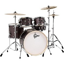 Gretsch Drums Energy 5-Piece Drum Set Brushed Grey with Hardware and Zildjian Cymbals