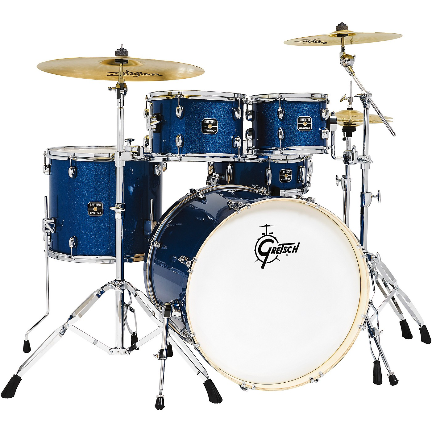 Gretsch Drums Energy 5-Piece Drum Set With Hardware and Zildjian Cymbals thumbnail
