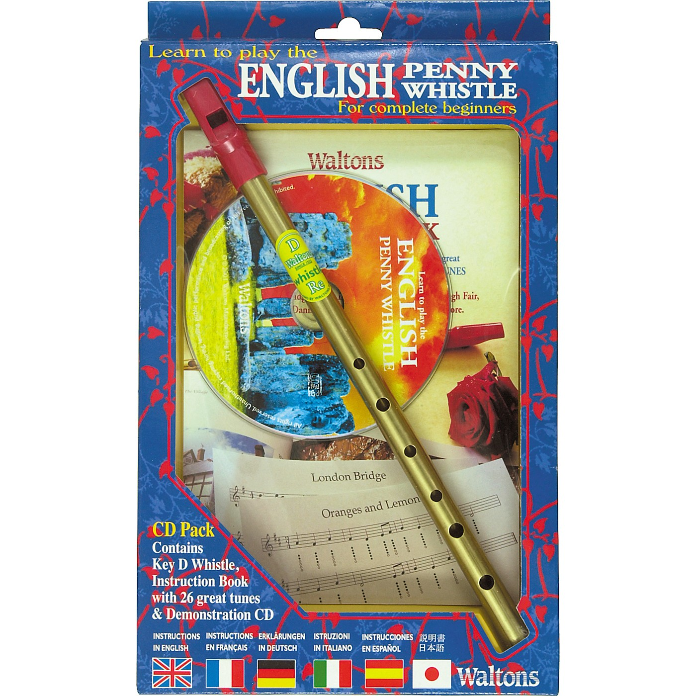 Waltons English Penny Whistle CD Pack thumbnail
