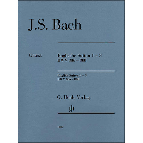 G. Henle Verlag English Suites 1-3 BWV 806-808 By Bach thumbnail