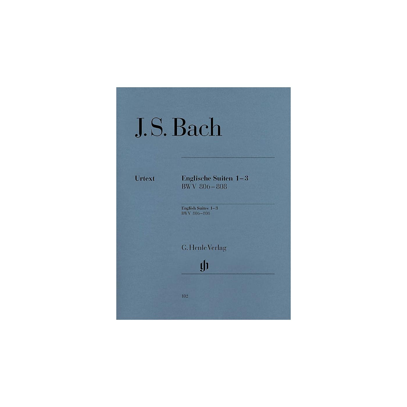 G. Henle Verlag English Suites 1-3 BWV 806-808 Henle Music Folios Series Softcover thumbnail