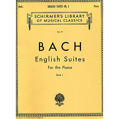 G. Schirmer English Suites for Piano Book 1 By Bach thumbnail