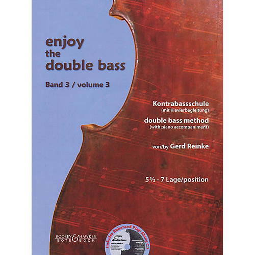 Bote & Bock Enjoy the Double Bass Series Softcover Audio Online Written by Gerd Reinke thumbnail