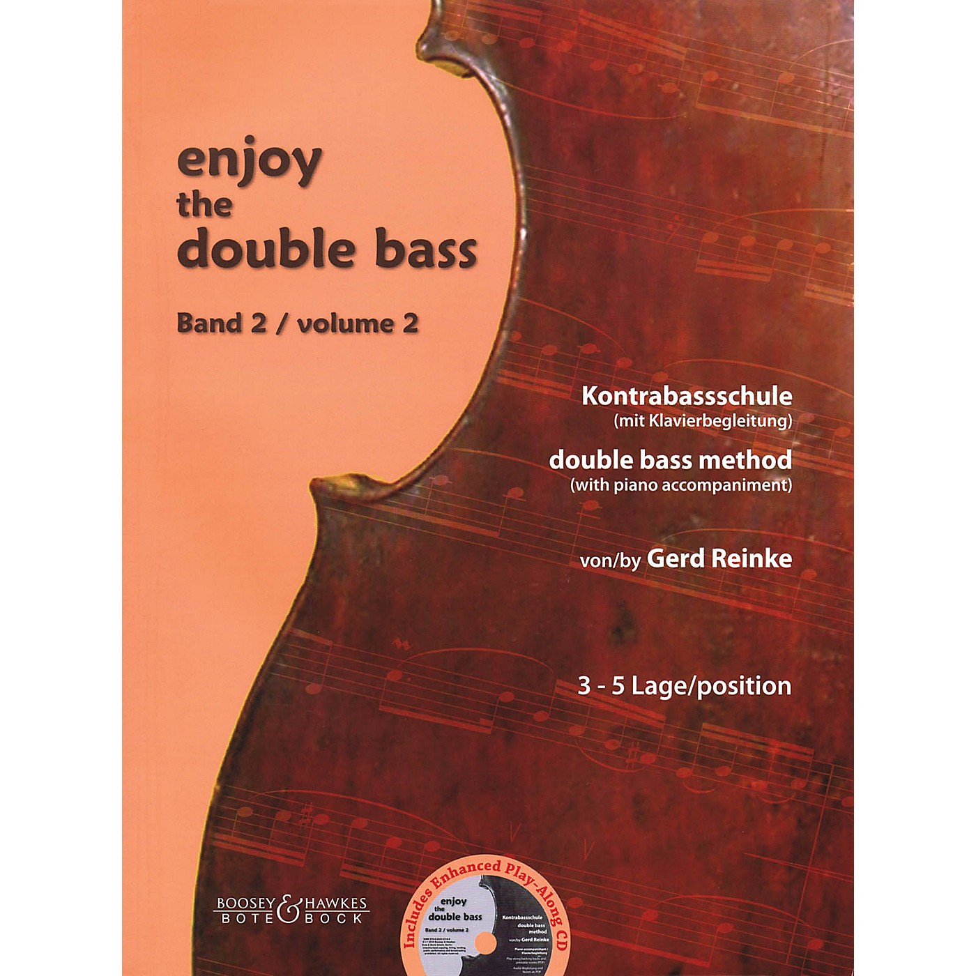Bote & Bock Enjoy the Double Bass Series Softcover with CD Written by Gerd Reinke thumbnail